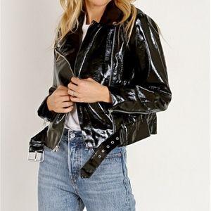 BB Dakota Jackets & Coats - NWT BB Dakota Vinyl Moto Jacket Black